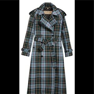 Burberry Tartan Cotton Trench Coat